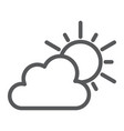 weather line icon sky and climate sun and cloud vector image vector image