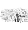 why bother with art colleges text word cloud vector image vector image