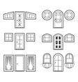 Window and door icons set vector image