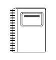 wired notebook school supply icon image vector image vector image