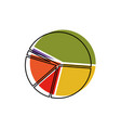 pie chart in watercolor silhouette vector image