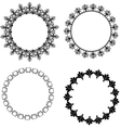 A set of round frames with ornament vector image