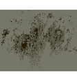 Grunge brown wallcrack and scratch texture vector image
