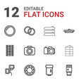 12 shutter icons vector image vector image