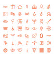 49 decorative icons vector image vector image