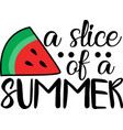 a slice summer on white background vector image vector image