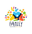 abstract colorful family logo design template vector image vector image