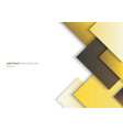 abstract template yellow square with shadow vector image vector image