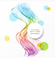 abstract wave background rainbow waved vector image vector image