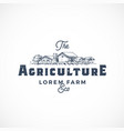 agriculture farm abstract sign symbol or vector image vector image