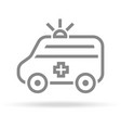 ambulance icon in trendy thin line style isolated vector image