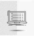 api app coding developer laptop line icon on vector image