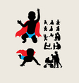 Baby is Hero Silhouettes vector image vector image