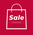 bag sale icon vector image
