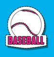 baseball ball sport patches decoration vector image vector image
