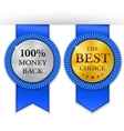 Best golden metal badges set Round gold medal or vector image vector image