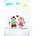 Children colorful pencil hand drawn of grandpa