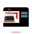 coffeemaker coffee machine icon flat style vector image