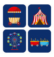 collection of elements related to carnival and vector image vector image
