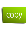 copy green paper sign on white background vector image vector image