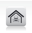 dangerous home icon vector image vector image