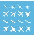 Different airplanes icon set vector image vector image