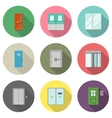 Door flat icons vector image