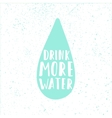 Drink more water Drop silhouette and motivation