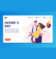 fathers day landing page template with vector image vector image