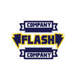 flash company logo template design element for vector image vector image