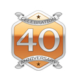 Forty years anniversary celebration silver logo vector image vector image