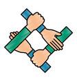 hands teamwork symbol vector image
