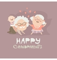 Happy grandparents playing with their grandson vector image vector image