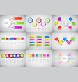 headline infographic set design business data vector image vector image