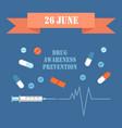 international day june drug awareness prevention vector image vector image