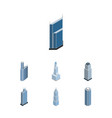 isometric building set of business center vector image vector image