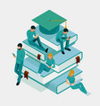 isometric training online learning webinar vector image vector image