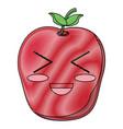 kawaii apple icon image vector image