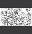 kiev ukraine map in black and white color vector image vector image