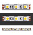 LED light strip seamless vector image vector image