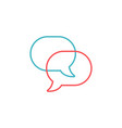 linear speech chat bubbles communication icon vector image vector image