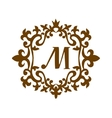 Luxury M monogram template vector image