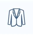 Male jacket sketch icon vector image vector image