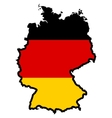 Map in colors of Germany vector image
