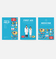medicine information cards set medical template vector image vector image