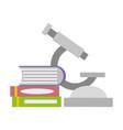 microscope books laboratory science vector image vector image