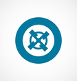 mill bold blue border circle icon vector image