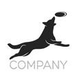 modern dog logo vector image vector image