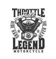 motorcycle engine t-shirt print mockup vector image
