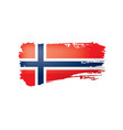 norway flag on a white vector image vector image